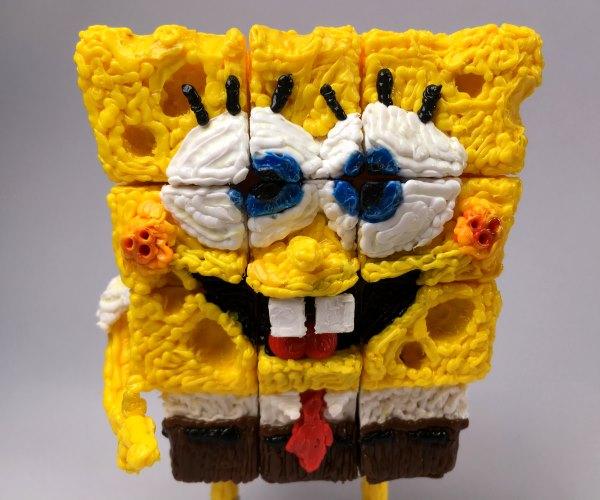 Rubik's Cube SpongeBob: 3D Pen Drawing