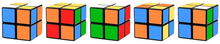 pretty 2x2 cube color patterns