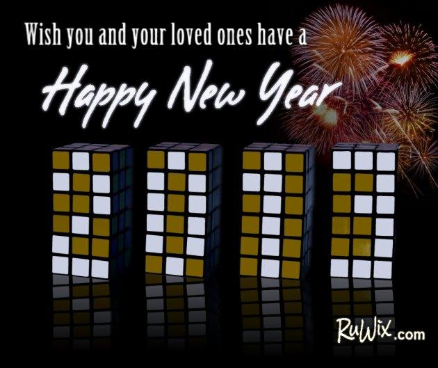 Happy New Year 2013 Rubik's Cubes
