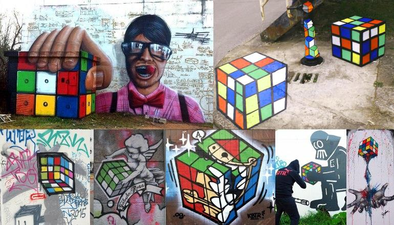 rubiks cube street art graffity collection