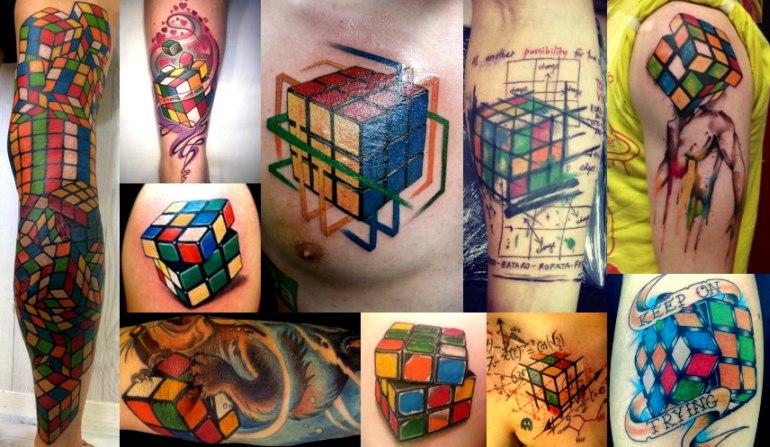 rubiks cube tattoos