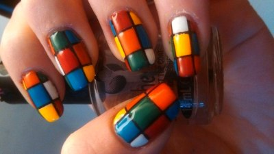 rubiks nail art