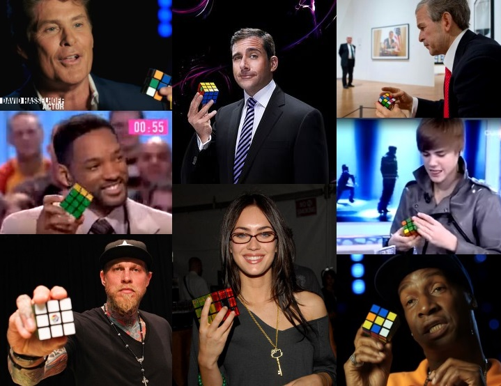 Celebrities Playing With The Rubiks Cube