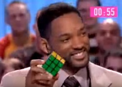 Will Smith solves the Rubiks Cube