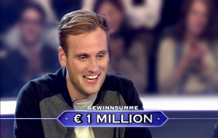 german student wins who wants to be a millionaire with a Rubiks cube question