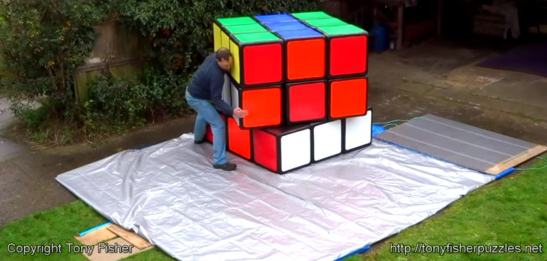 Worlds largest Rubiks Cube by Tony Fisher