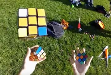 rubiks cube juggling