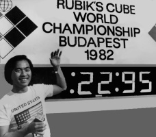 minh thai first speedcubing competition record 1982