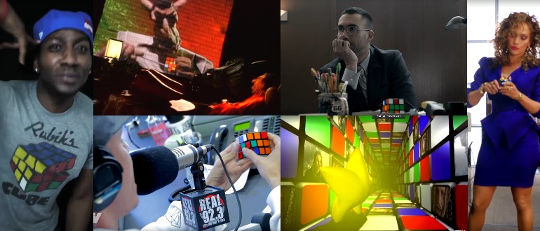 rubiks cube in music videos clips
