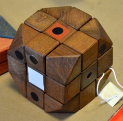 first wooden Rubiks cube model