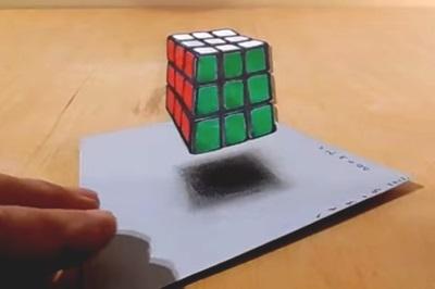 levitating cube trick