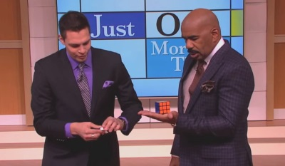 steve harvey show rubiks cube magic