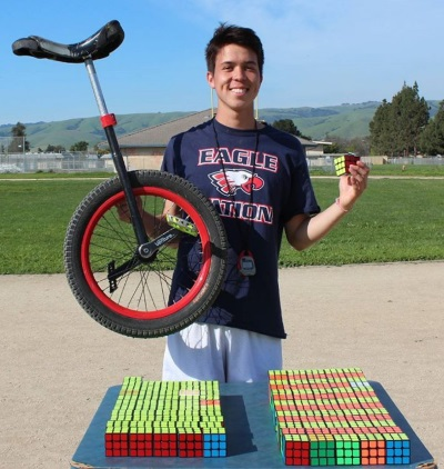 Owen Farmer unicycle cubing