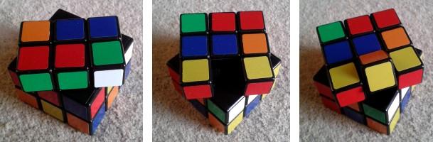 Piezas de la última capa del cubo de Rubik