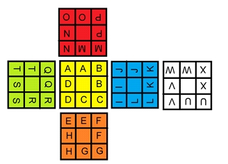 blindfolded Rubik's Cube notation