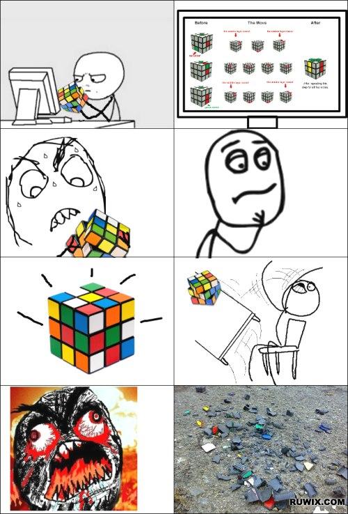 Funny Rubik's Cube images, memes, trolls :)