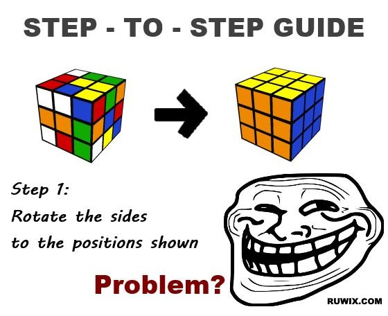Solve the Rubix Cube in one step
