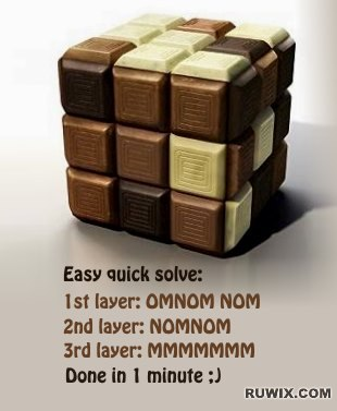 How to solve the chocolate cube memes funny images