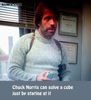 chuck norris cube fact