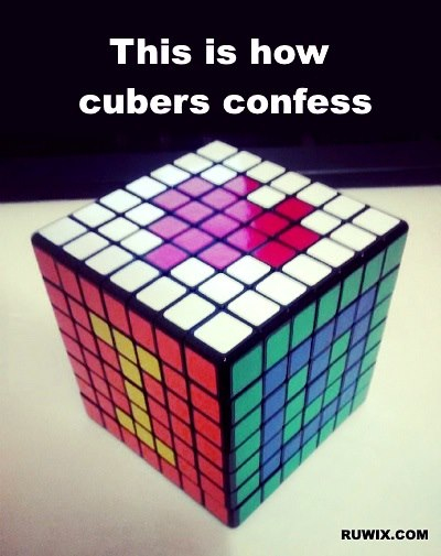 cuber confession I love you