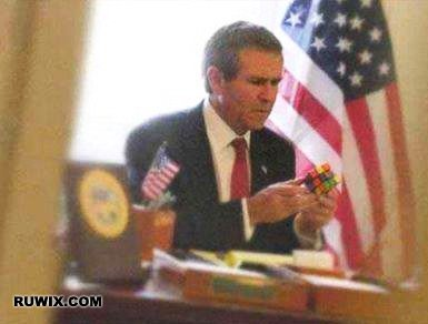 George Bush Rubiks cube memes funny images
