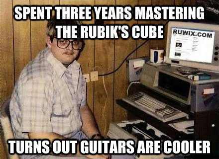guitars cooler than rubiks cube