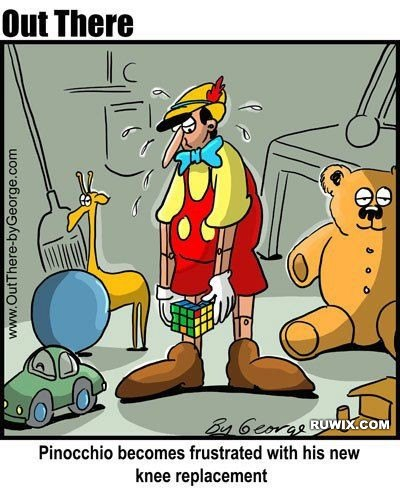 Pinocchio's new knee replacement