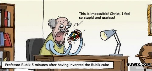 erno rubik couldnt solve the cube