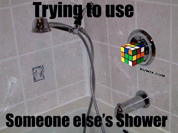 someone elses shower