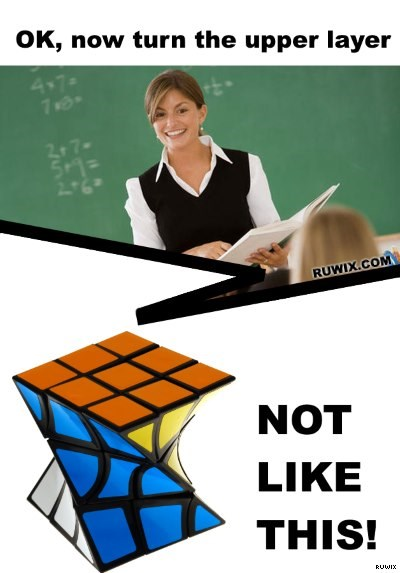 rubiks twist joke meme