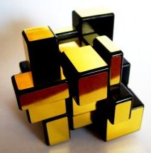 scrambled Mirror Cube gold