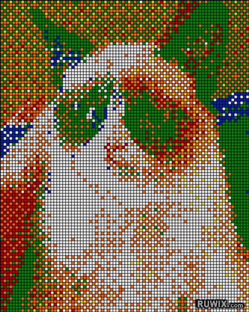 Rubiks Mosaic Cat Grumpy
