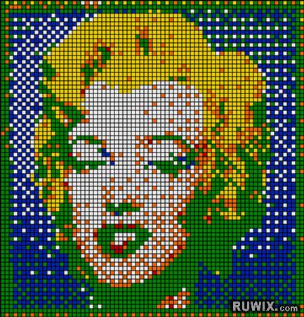 Rubikubism Rubik S Cube Pixel Art Mosaics