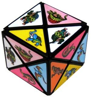 dinosaur cube stickers