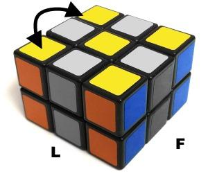 permutar esquinas amarillas del Domino Cube