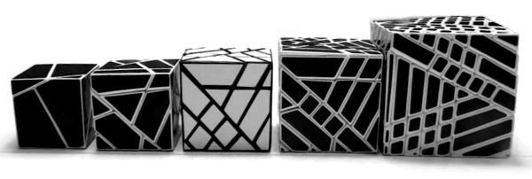 ghost cube variations from 2x2 to 7x7