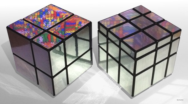 2x2x2 mirror cube blocks