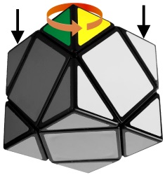 skewb rotate FLU piece
