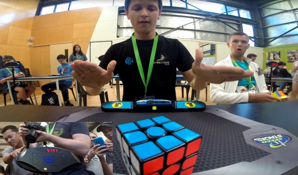 Feliks Zemdegs Rubiks Cube World ecord 2016 4.73 seconds