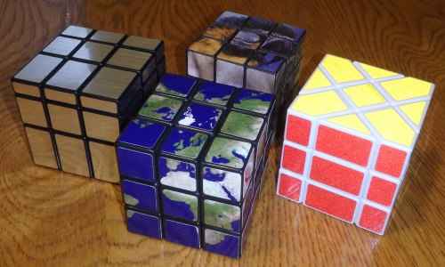 Rubiks Cube Earth, Fisher and Mirror cube stickers