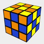 Rubik´s checkerboard pattern