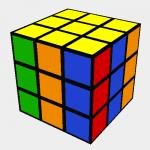 Rubik´s Vertical stripes pattern