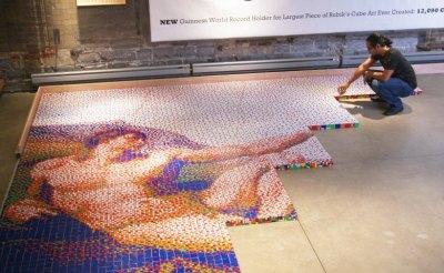 Rubik's Cube mosaic rubikubism