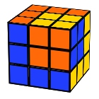 Rubik´s Twisted cube in the big cube pattern