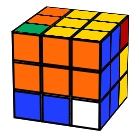 Six-two-one Rubik´s Cube pattern