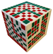 cube in cube checkerboard pattern 9x9x9