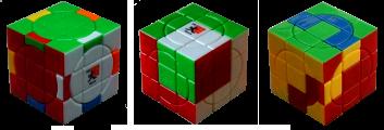 Crazy 3х3х3 plus cube-Mars 12 flipped-edges