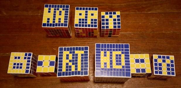 happy birthday puzzle cubes