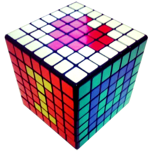 I love you Rubik's Cube pattern