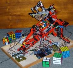Dénes Ferenc lego rubiks cube microcontroller robot 2007